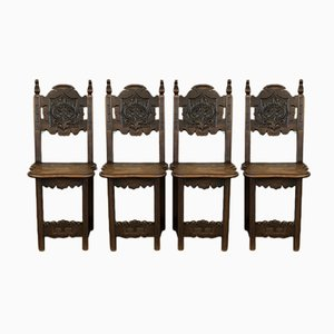 Antique French Decorative Chairs, Set of 4