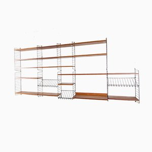Large Wall Unit by Kajsa & Nils 'Nisse' Strinning for String, 1950s