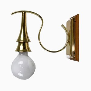 Brass Art Deco Wall Lamp, 1920s