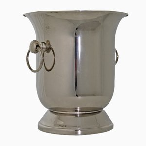 Cubitera para champán de metal plateado, años 60