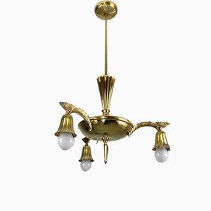 Lámpara de araña de latón, años 10