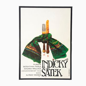 Vintage The Indian Scarf Movie Poster by Henry Bohemia, 1971