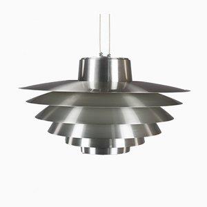 Lampada grande Verona in alluminio di Svend Middelboe per Nordisk Solar, anni '70