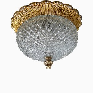 Hollywood Regency Style Gold and Crystal Sconce from Limburg, 1970s