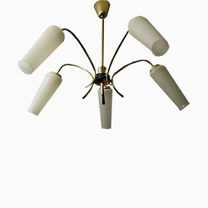 Lámpara de araña Spider italiana de Stilnovo, años 60