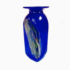 Vase en Verre Cobalt, Allemagne, 1970s