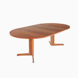 Danish Teak Extendable Dining Table by Niels Møller for Gudme