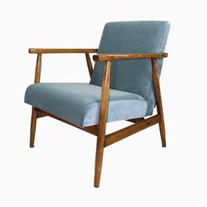 Vintage Grey Velvet Easy Chair, 1970s