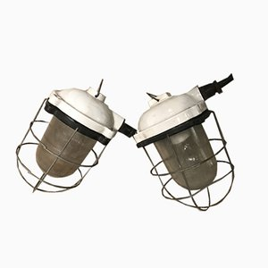 Polish Industrial Lamps, 1970s, Set of 2