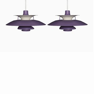 Lampada PH5 vintage di Poul Henningsen per Louis Poulsen, set di 2
