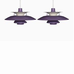 Vintage PH5 Pendulum Lights by Poul Henningsen for Louis Poulsen, Set of 2