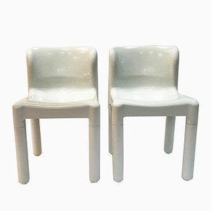 Model 4875 Chairs by Carlo Bartoli for Kartell, 1970s, Set of 2