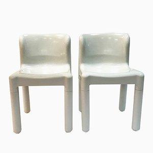 Modell 4875 Stühle von Carlo Bartoli für Kartell, 1970er, 2er Set