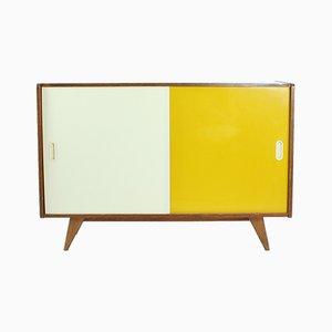 Mid-Century Sideboard in Gelb & Cremefarbe von Jiri Jiroutek für Interier Praha, 1960er