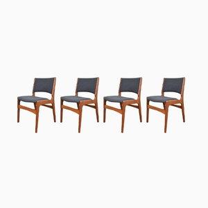 Dänische Modell 89 Stühle von Erik Buch für Anderstrup Møbelfabrik, 1960er, 4er Set