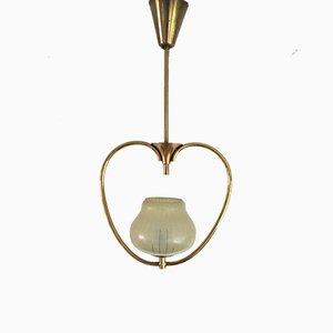 Art Deco Scandinavian Pendant Light, 1930s