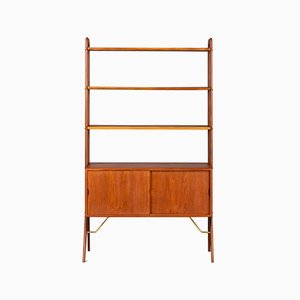 Danish Freestanding Teak Wall Unit by Kurt Ostervig, 1960s