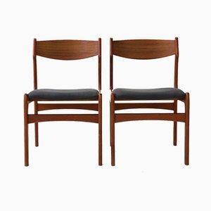 Esszimmerstühle aus Teak von Erik Buch, 1960er, 6er Set