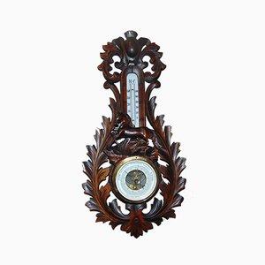 Baromètre et Thermomètre Antiques en Bois