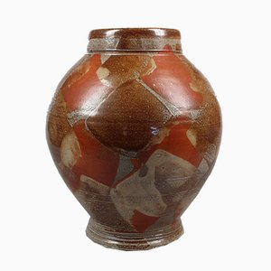 Jarrón de cerámica de gres esmaltado en sal de Richard Dewar, años 90