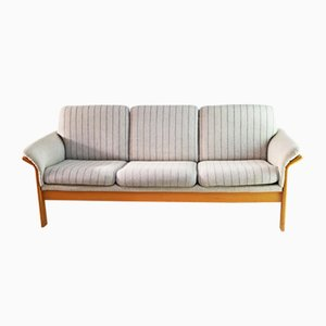 Mid-Century Danish Sofa with Beech Frame