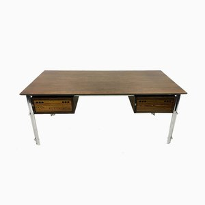 Rosewood and Chrome Desk, 1970s