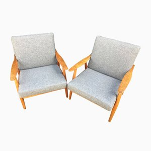 GE270 Armchairs by Hans J. Wegner for Getama, 1960s, Set of 2