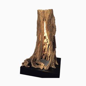 Stehlampe aus Robinienholz von Natural Design