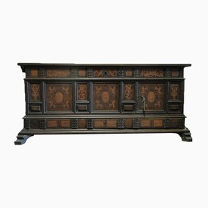 Antique Spanish Marquetry Coffer