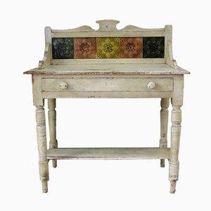 Antiker viktorianischer lackierter Waschtisch aus Kiefernholz