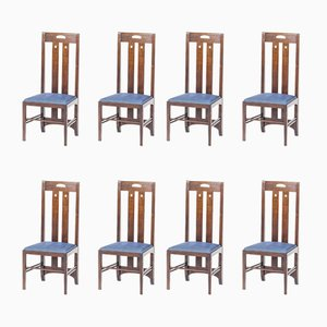Chaises Ingram par Charles Rennie Mackintosh pour Cassina, 1981, Set de 8
