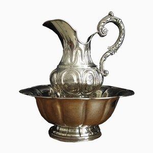 Antike Kanne und Schale aus Silber