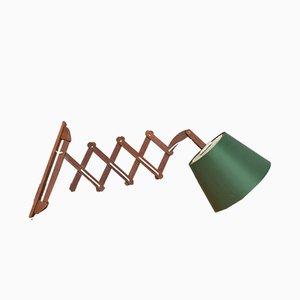 Lámpara acordeón Mid-Century de teca, años 60