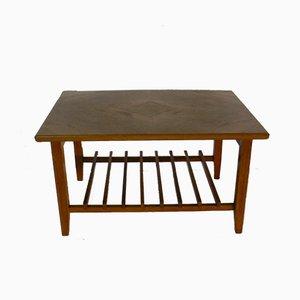 Table Basse Mid-Century à Lattes en Teck