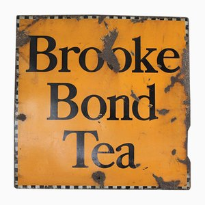 Cartel Brooke Bond Tea esmaltado, años 30