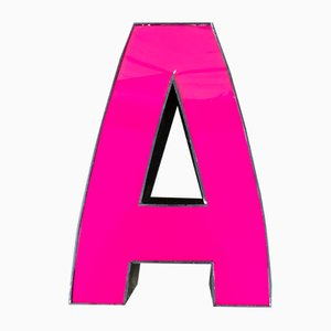 Vintage Pink Letter A Sign