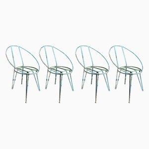 Gartenstühle aus Metall, 1950er, 4er Set