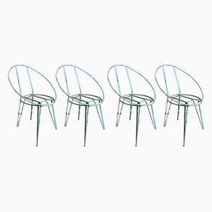 Metal Garden Chairs, 1950s, Set of 4