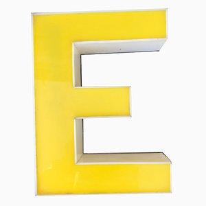 Panneau Lettre E Vintage