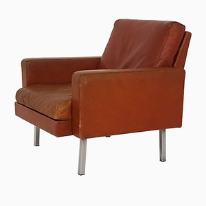 Leather Lounge Chair by Martin Visser for 't Spectrum, 1960s