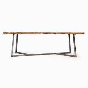 Table en Chêne & Acier par Philipp Roessler pour NUTSANDWOODS