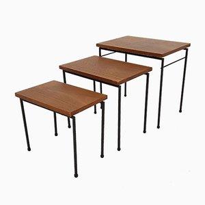 Tavolini ad incastro vintage in teak, anni '60