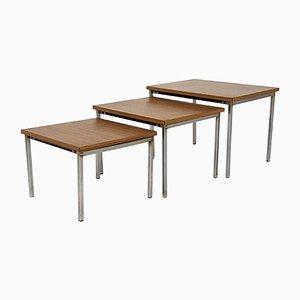 Tavolini a incastro vintage di Pierre Guariche per Meurop, anni '60