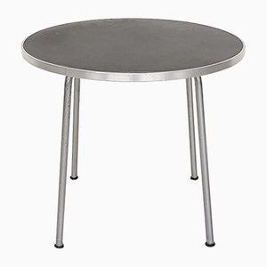 Round Metal Industrial Model 501/3601 Side Table by Willem Hendrik Gispen for Gispen, 1954