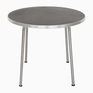 Tavolino rotondo nr. 501/3601 industriale in metallo di Willem Hendrik Gispen per Gispen, 1954