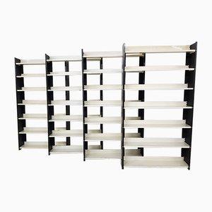 Bücherregale aus Metall von AD Dekker für Tomado, 1960er, 4er Set