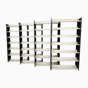 Metal Bookcases by A.D. Dekker for Tomado, 1960s, Set of 4