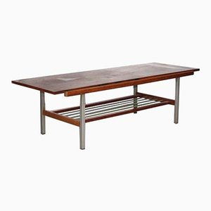 Metal, Rosewood & Formica Coffee Table with Reversible Top, 1960s