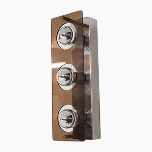 Mid-Century Brown Plexiglas Wall Light from Raak