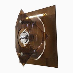 Lampada da parete in plexiglas di Raak, anni '60